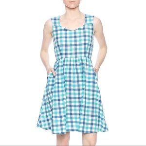 Mata Traders Darling Poets Plaid Dress sz S